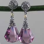 Amethyst Filigree Pendant Earrings