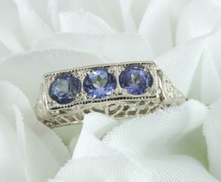 Estate Tanzanite Filigree Ring