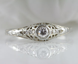 Orange Blossom Engagement Ring
