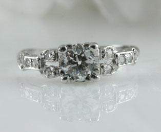 Art Deco Engagement Diamond Ring