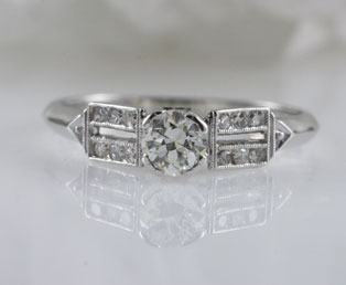 Estate Solitaire Diamond Engagement Ring
