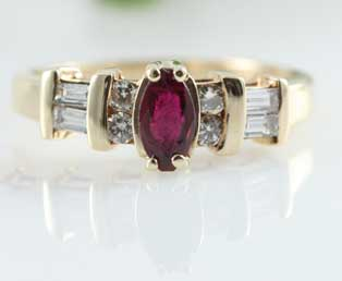 Ruby Diamond Vintage Ring