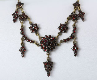 Antique Garnet Tassel Necklace