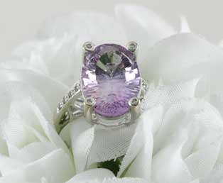 Vintage Amethyst White Gold Ring