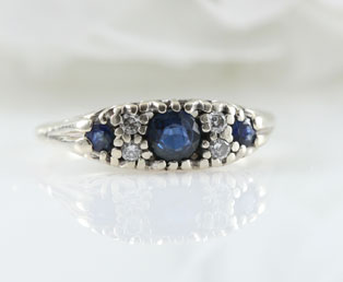 Sapphire Diamond Wedding Ring