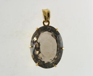 Vintage smoky quartz pendant big vintage smoky quartz pendant mozeypictures Images