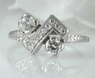 Unique Art Deco Diamond Ring