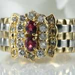 Ruby Diamond Platinum Gold Ring