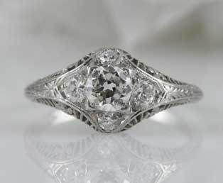 1920s Diamond Engagement Ring