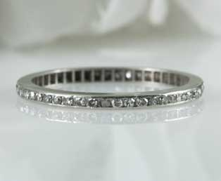 Estate Diamond Anniversary Wedding Band