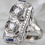 Art Deco Rectangle Dinner Ring