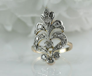 Antique Edwardian Diamond Dinner Ring
