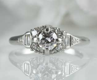 Romantic European Diamond Engagement Ring