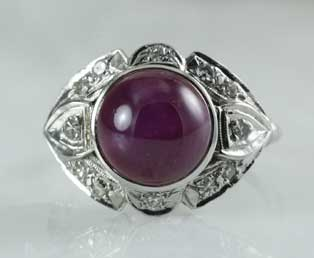 Star Ruby Cabochon Ring