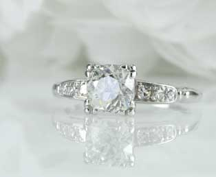 Traditional Estate Diamond Engagement Ring