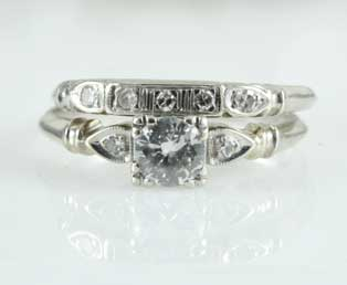 Diamond Engagement Wedding Ring set