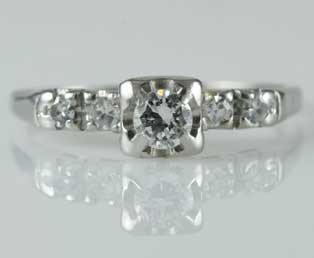 Estate Platinum Engagement Ring