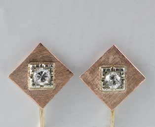 Estate Old Diamond Earrings