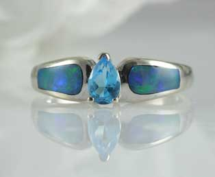 Asher Opal Topaz Ring