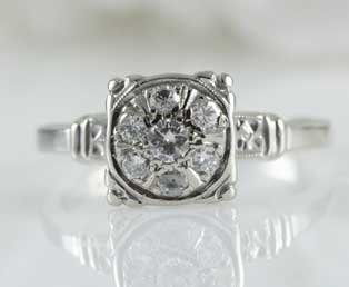 Estate Engagement Diamond Ring