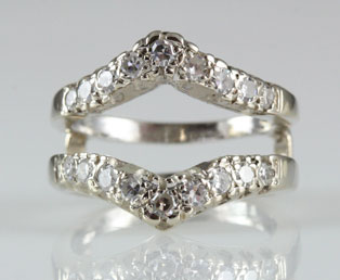 estate diamond ring enhancer - Wedding Ring Enhancers