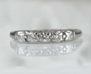 Platinum Wedding Band Diamonds