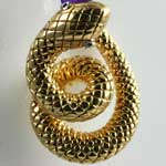 Coiled Gold Snake Pendant