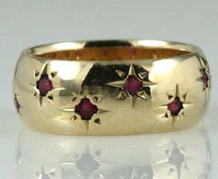 Star Set Ruby Ring
