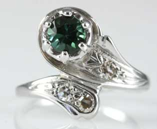 Estate Green Tourmaline Bypass Ring
