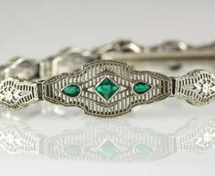 Art Deco Filigree Bracelet