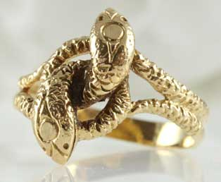 Intertwined Gold Snake Ring
