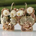 Antique Gold Flower Earrings