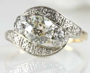 Estate Yellow Diamond Engagement Ring