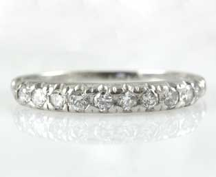 Estate Wedding Band Platinum