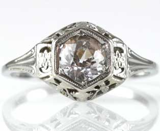 Estate Filigree Wedding Ring Setting