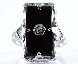 Antique Black Onyx Ring This Trunkshow Has Ended Close Loading