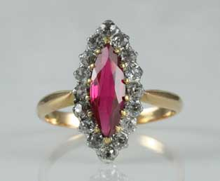 Ruby Diamond Antique Ring