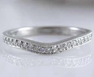 Platinum Wedding Diamond Band