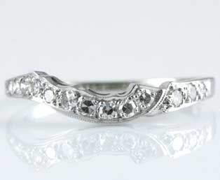 Estate White Gold Wedding Band