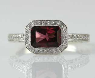 Vintage Tourmaline Filigree Ring