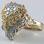 Bold Gold Diamond Ring