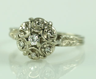 1920s Diamond Wedding Ring