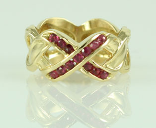 X Ruby Gold Ring