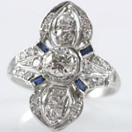 Antique Platinum Diamond Dinner Ring