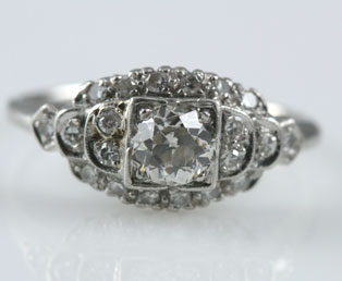 Art Deco Platinum Wedding Ring