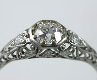 Antique Platinum Wedding Ring