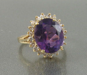 Deep Purple Amethyst Ring