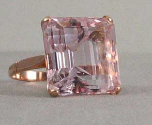 Rose Quartz Big Ring