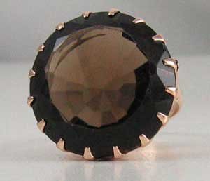 Huge Smoky Quartz Ring