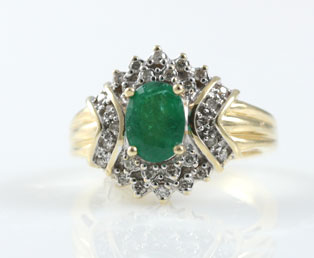 Colombian Emerald 14KT Ring